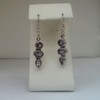 Stunning Faceted Amethyst Earrings